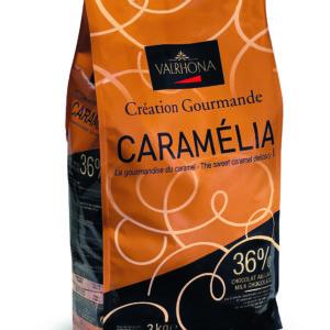 Valrhona  Caramelia 36% Milk Chocolate Feves  #7098