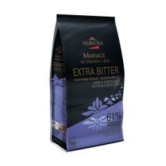 """Valrhona 61% Dark Chocolate """"Extra Bitter"""" Feves #4657"""