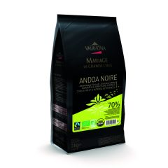 "Valrhona ""Andoa Noir"" 70% Organic Dark Chocolate Feves   12515#"